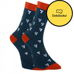 Veselé ponožky Dots Socks sedmičky (DTS-SX-425-A)