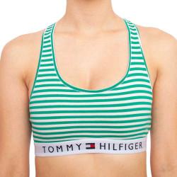 Dámská podprsenka Tommy Hilfiger zelené proužky (UW0UW02348 0IK)