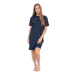 Dámská noční košile Tommy Hilfiger tmavě modrá (UW0UW01639 416)