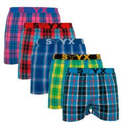 5PACK pánské trenky Styx sportovní guma vícebarevné (B81112131415)
