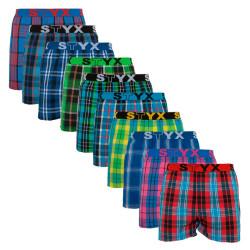 10PACK pánské trenky  Styx sportovní guma vícebarevné  (B8111234567890)
