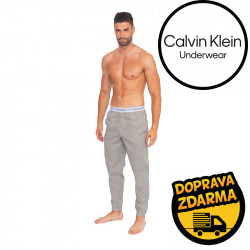 Pánské kalhoty na spaní Calvin Klein šedé (NM1524E-080)