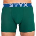 Pánské boxerky Styx long sportovní guma tmavě zelené (U1066)