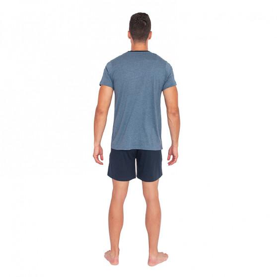 Pánské pyžamo Jockey modré nadrozměr (500013 499)