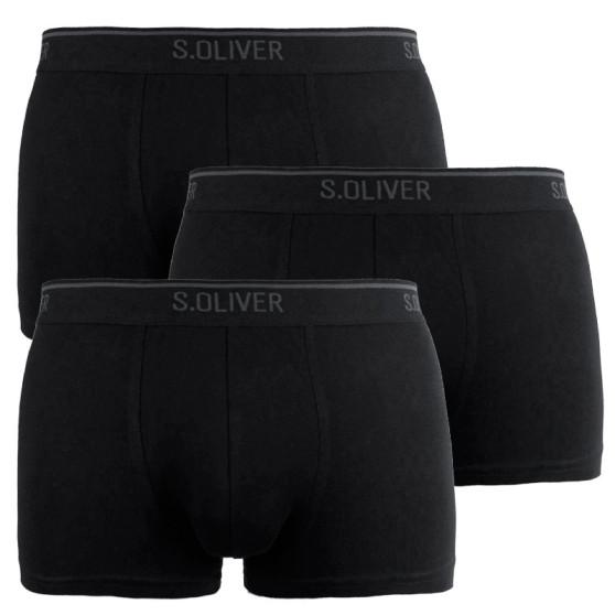 3PACK pánské boxerky S.Oliver černé (172.11.899.18.236.12B2)