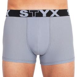 Pánské boxerky Styx sportovní guma světle šedé (G1067)