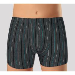 Pánské boxerky Andrie tmavě šedé, modré pruhy (PS 5253 A)