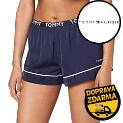 Dámské kraťasy na spaní Tommy Hilfiger modré (UW0UW02291 CHS)