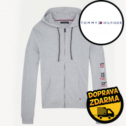 Pánská mikina Tommy Hilfiger šedá  (UM0UM01799 P6S)