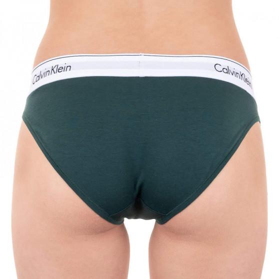 Dámské kalhotky Calvin Klein tmavě zelené (F3787E-CP2)