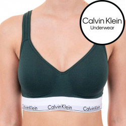 Dámská podprsenka Calvin Klein tmavě zelená (QF1654E-CP2)