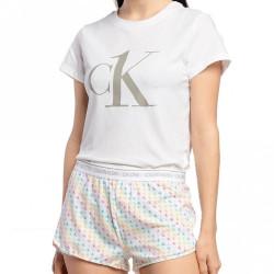 Dámské pyžamo CK ONE bílé (QS6443E-QW9)