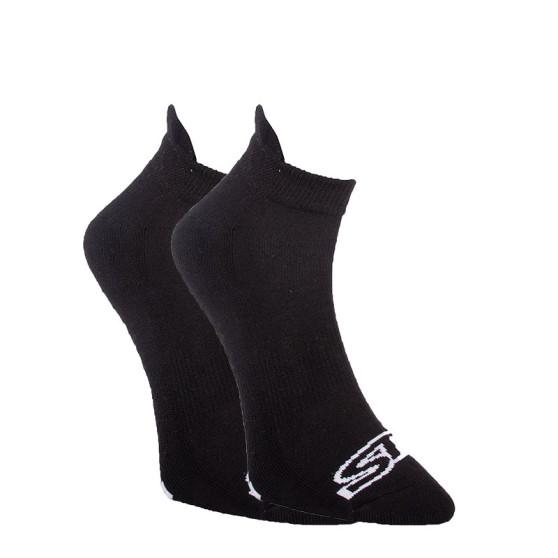 Ponožky Styx nízké černé s bílým logem (HN960)