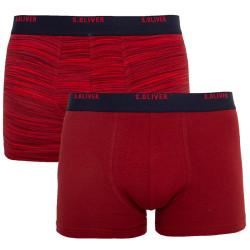2PACK pánské boxerky S.Oliver červené nadrozměr (26.899.97.8794.38W0)