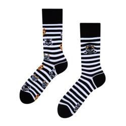 Veselé ponožky Dedoles Kočky a pruhy GMRS122 (Good Mood)