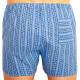 Klasické pánské trenky Foltýn modré šestiúhelník extra nadrozměr