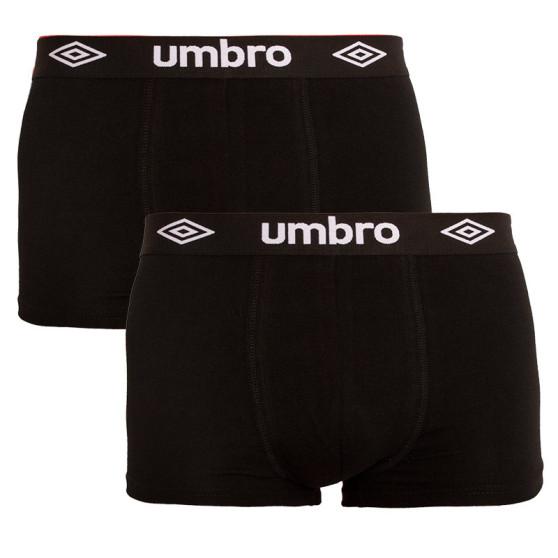 2PACK pánské boxerky Umbro černé (UMUM0241F)