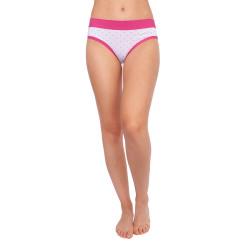 Dámské kalhotky Andrie bílé s růžovými puntíky (PS 2436 A)