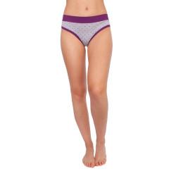 Dámské kalhotky Andrie šedé s fialovými puntíky (PS 2436 B)