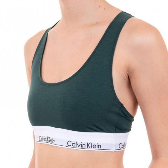 Dámská podprsenka Calvin Klein tmavě zelená (F3785E-CP2)