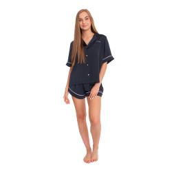 Dámská noční košile Tommy Hilfiger modrá (UW0UW02351 CHS)