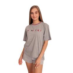 Dámské tričko Tommy Hilfiger šedé (UW0UW02265 P6S)