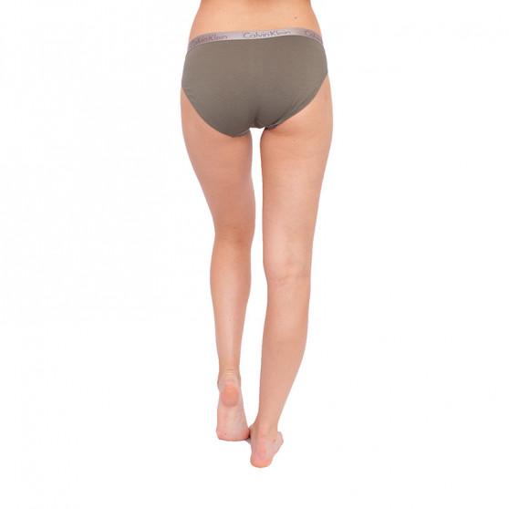 Dámské kalhotky Calvin Klein khaki (QD3540E-5TF)