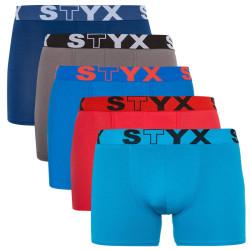 5PACK pánské boxerky Styx long sportovní guma vícebarevné (U96768696364)