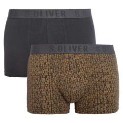 2PACK pánské boxerky S.Oliver tmavě šedé (26.899.97.4510.17G3)