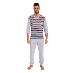 Pánské pyžamo Foltýn šedé (FPD4)