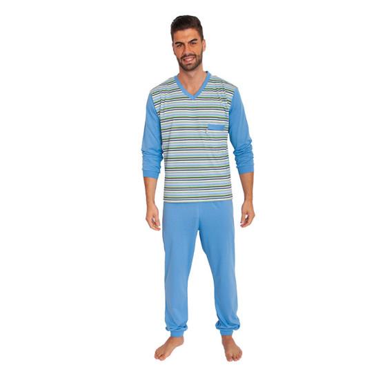 Pánské pyžamo Foltýn nadrozměr modré (FPDN1)