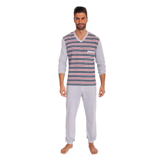 Pánské pyžamo Foltýn nadrozměr šedé (FPDN4)