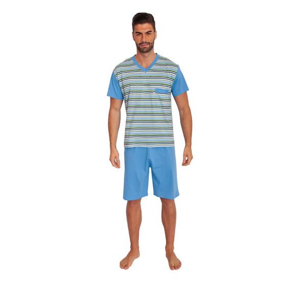 Pánské pyžamo Foltýn nadrozměr modré (FPKN5)