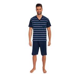 Pánské pyžamo Foltýn nadrozměr tmavě modré (FPKN6)