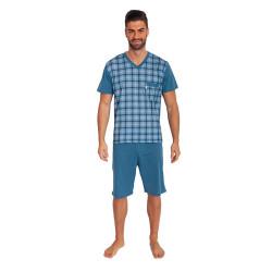 Pánské pyžamo Foltýn nadrozměr modré (FPKN7)