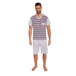 Pánské pyžamo Foltýn nadrozměr šedé (FPKN8)