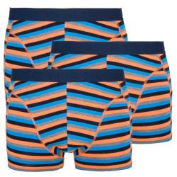 3PACK pánské boxerky Stillo modro oranžové proužky (STP-0121212)