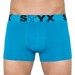 Pánské boxerky Styx sportovní guma nadrozměr světle modré (R969)