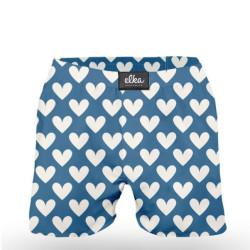 Pánské trenky ELKA modrá velká srdíčka (P0018)