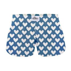 Dámské trenky ELKA modrá velká srdíčka (D0018)