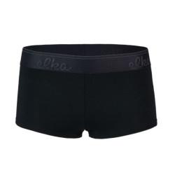 Dámské kalhotky Elka černé s černou gumou (DB0041)