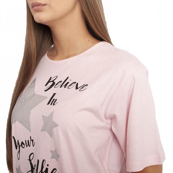 Dámská noční košile Molvy růžová (AK-3190 C)