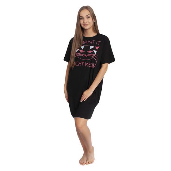 Dámská noční košile Molvy černá (AK-3190 A)