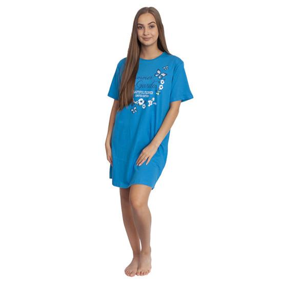 Dámská noční košile Molvy modrá (AK-3190)