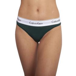 Dámská tanga Calvin Klein tmavě zelená (F3786E CP2)