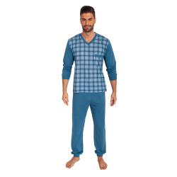 Pánské pyžamo Foltýn nadrozměr modré (FPDN3)