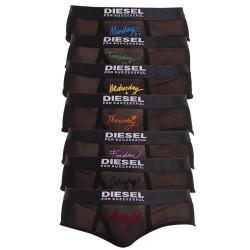 7PACK dámské kalhotky Diesel černé (A01164-0ABAK-900)