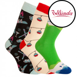 3PACK ponožky Bellinda vícebarevné (1004-305 B)