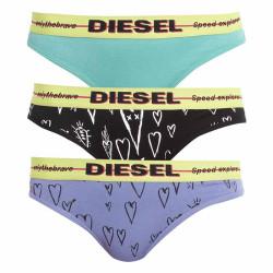 3PACK dámská tanga Diesel vícebarevné (00SE0K-0SAZQ-E5182)