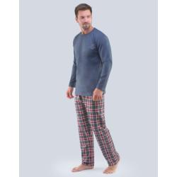 Pánské pyžamo Gino tmavě šedé (79091)